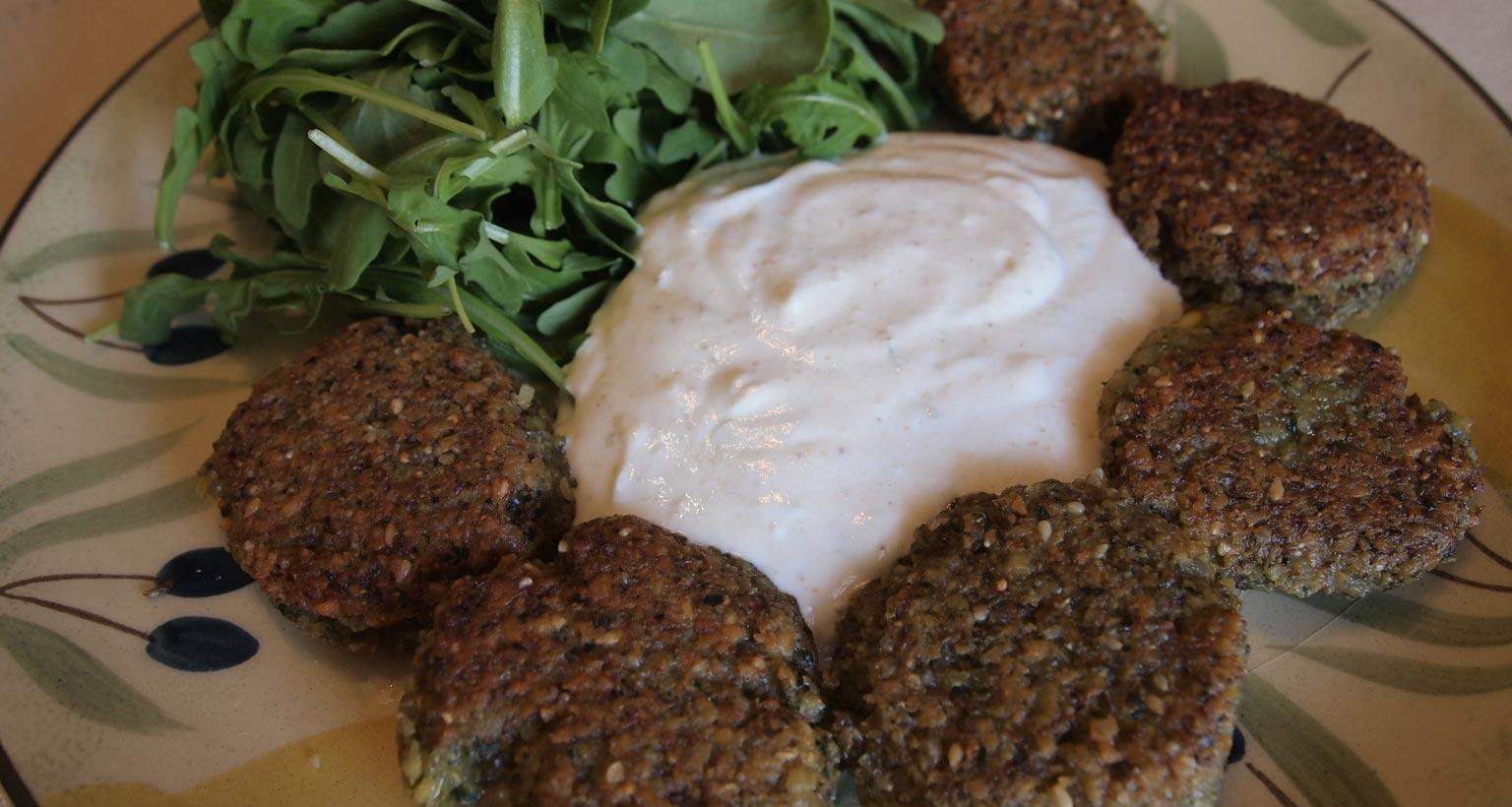 lentil-burgers-yogurt